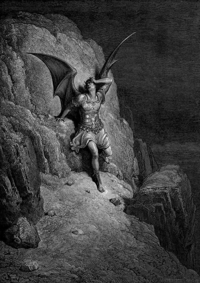 Dore, Gustave: Depiction of Satan. Fine Art Print/Poster. Sizes: A4/A3/A2/A1 (001837)